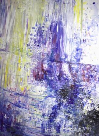 140x100 Öl, Buntstift auf Leinwand